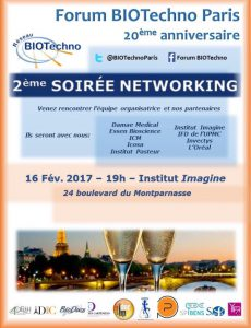 2ème Soirée Networking - Forum BIOTechno @ Institut Imagine | Paris | Île-de-France | France