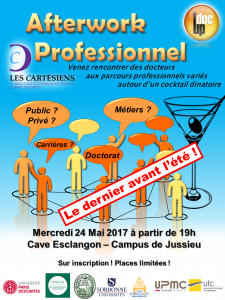 AfterWork Professionnel - Les Cartésiens + Doc'Up - 24 mai 2017 – 19h @ Caves Esclangon @ Caves Esclangon | Paris | Île-de-France | France