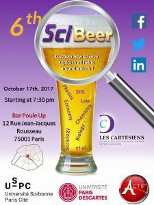 SCI-BEER #6 - 17 octobre 2017 à 19h30 - Les Cartésiens + ACTIF @ Poule Up | Paris | Île-de-France | France
